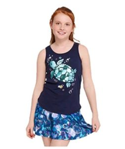 Justice girls clothing -  Racerback Ocean Shimmer Tank Top